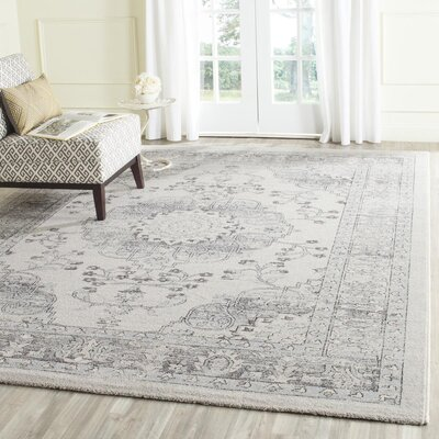 Mills Beige/Blue Area Rug Rug Size: Rectangle 8 x 10