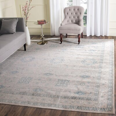 Bertille Gray/Blue Area Rug Rug Size: Square 5