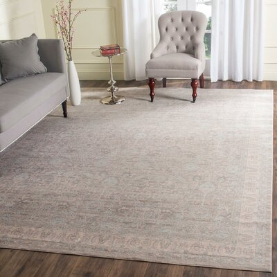 Bertille Gray/Light Gray Area Rug Rug Size: Rectangle 51 x 76