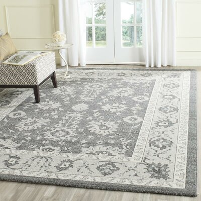 Carmel Dark Gray/Beige Area Rug Rug Size: Rectangle 4 x 6