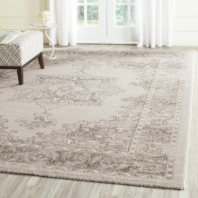 Carmel Beige & Brown Area Rug Rug Size: Rectangle 51 x 76