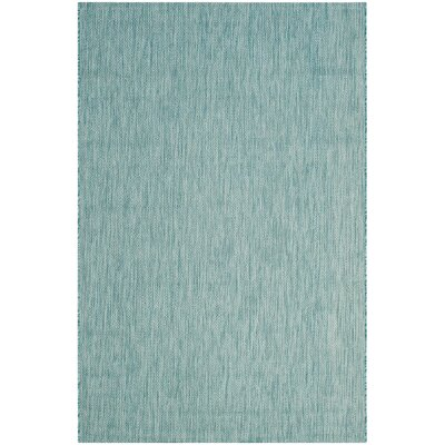 Adelia Aqua Area Rug Rug Size: Rectangle 9 x 12
