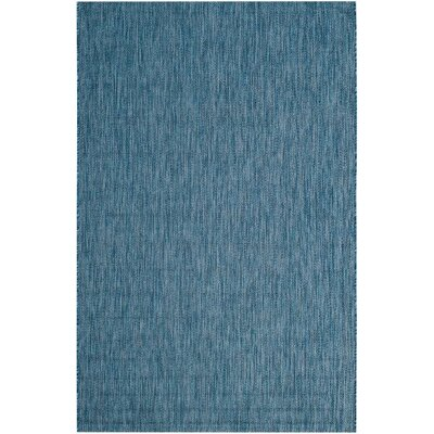 Mullen Navy Indoor/Outdoor Area Rug Rug Size: Rectangle 53 x 77