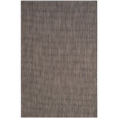 Mullen Black/Beige Area Rug Rug Size: Rectangle 27 x 5