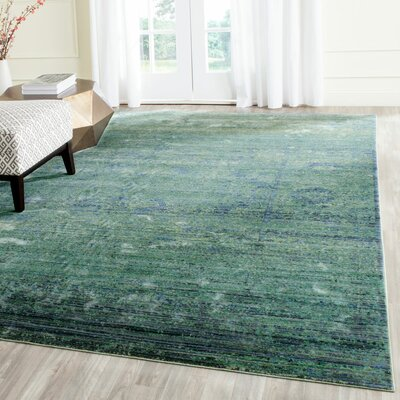 Celeta Green Area Rug Rug Size: Rectangle 4 x 6