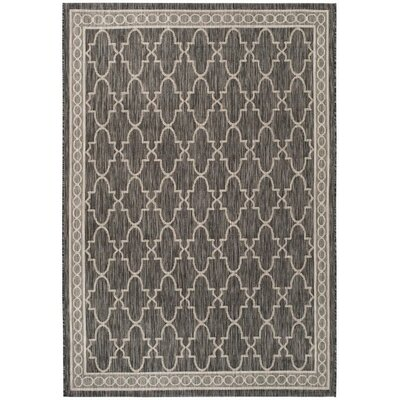 Rockbridge Black/Beige Indoor/Outdoor Area Rug Rug Size: Rectangle 4 x 57