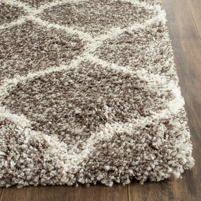 Elizabeth Street Gray/Ivory Area Rug Rug Size: Rectangle 8 x 10