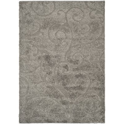 Biller Swirl Gray/Beige Area Rug Rug Size: Rectangle 4 x 6