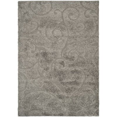 Biller Swirl Gray/Beige Area Rug Rug Size: Rectangle 53 x 76