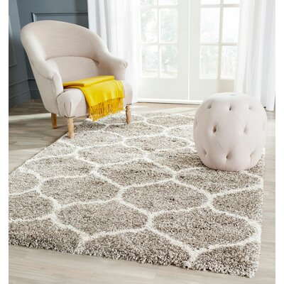 Elizabeth Street Gray/Ivory Area Rug Rug Size: Rectangle 51 x 76