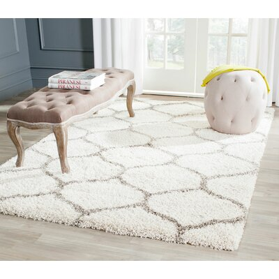 Marco Ivory/Gray Area Rug Rug Size: Rectangle 6 x 9