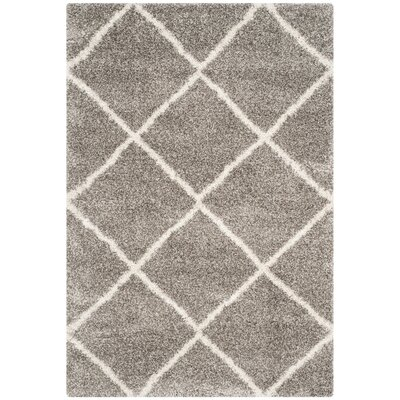 Hampstead Gray Shag Area Rug Rug Size: 3 x 5
