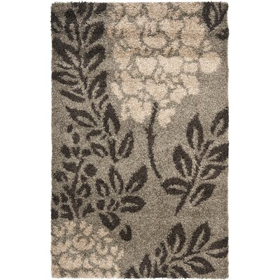 Duffey Smoke Gray Area Rug Rug Size: Rectangle 33 x 53