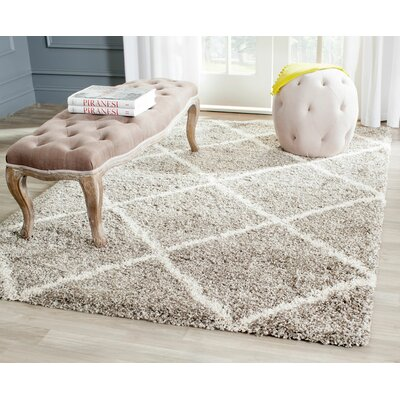 Hampstead Gray Shag Area Rug Rug Size: 51 x 76