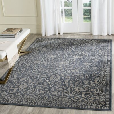 Columbus Blue/Light Gray Area Rug Rug Size: Rectangle 2 x 3