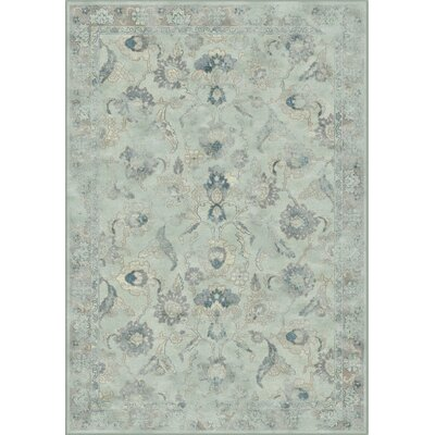 Crestshire Light Blue/Light Gray Area Rug Rug Size: Rectangle 4 x 57