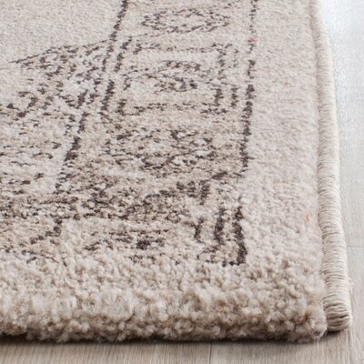 Carmel Beige & Brown Area Rug Rug Size: Rectangle 9 x 12