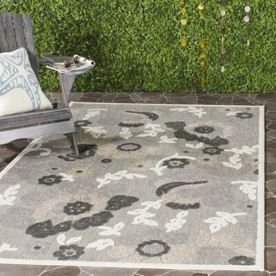 Suri Gray/Dark Gray Indoor/Outdoor Area Rug Rug Size: Rectangle 33 x 53