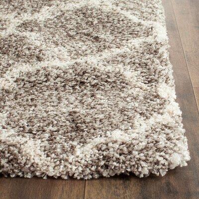 Elizabeth Street Grey / Ivory Area Rug Rug Size: 3 x 5