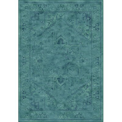 Meline Wool Turquiose Area Rug Rug Size: Rectangle 53 x 76