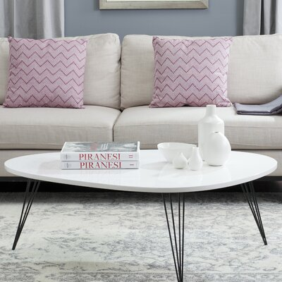 Seraphina Coffee Table Table Top Color: White/Black
