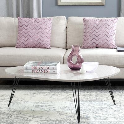 Seraphina Coffee Table Table Top Color: Taupe/Black