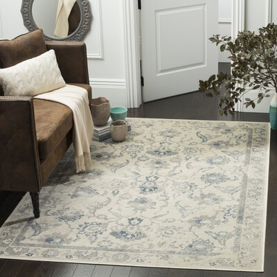Curtis Green/Blue Area Rug Rug Size: 33 x 57