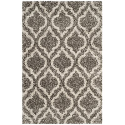 Hampstead Gray/Beige Area Rug Rug Size: 51 x 76