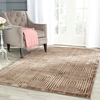 Infinity Geometric Brown/Beige Area Rug Rug Size: Rectangle 4 x 6