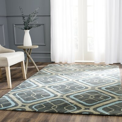 Schaub Hand-Tufted Gray/Beige Area Rug Rug Size: Rectangle 5 x 8
