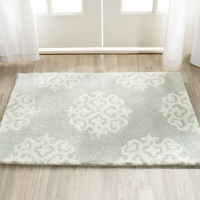 Backstrom Hand-Tufted Gray/Ivory Area Rug Rug Size: Rectangle 36 x 56