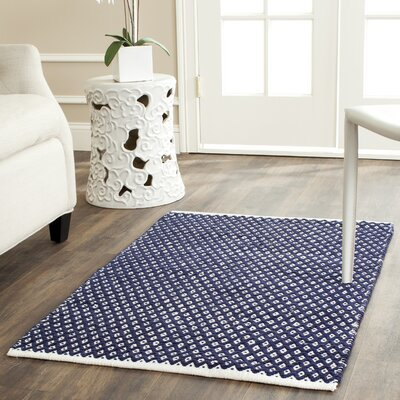 Ash Navy Area Rug Rug Size: Rectangle 26 x 4