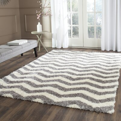 Kimberley Gray/Beige Area Rug Rug Size: Rectangle 4 x 6