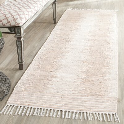 Lotie Hand-Woven Beige Area Rug Rug Size: Rectangle 5 x 7