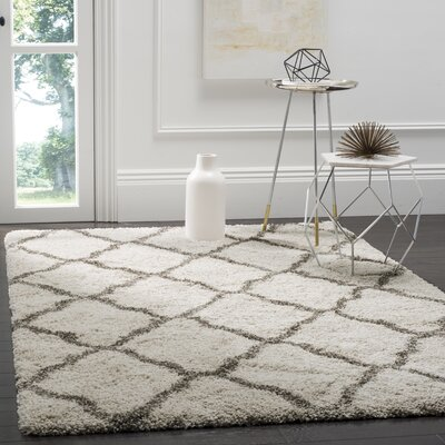 Buford Ivory/Gray Area Rug Rug Size: Rectangle 4 x 6