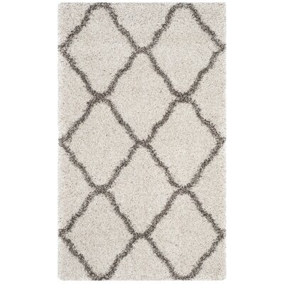 Buford Ivory/Gray Area Rug Rug Size: Rectangle 3 x 5