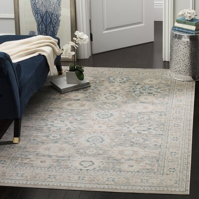 Bertille Gray/Blue Area Rug Rug Size: Rectangle 8 x 10