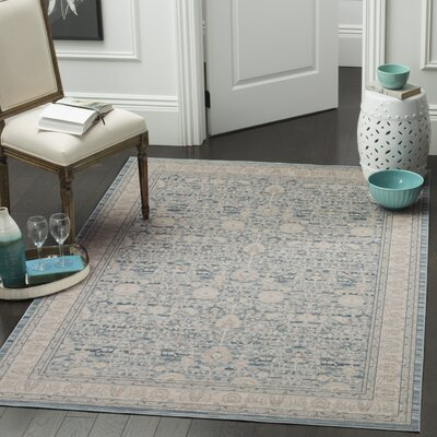 Bertille Blue/Gray Area Rug Rug Size: Runner 22 x 6