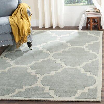 Wilkin Grey & Ivory Rug Rug Size: 5 x 8