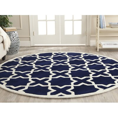 Chatham Ivory & Blue Geometric Wool Hand-Tufted Area Rug