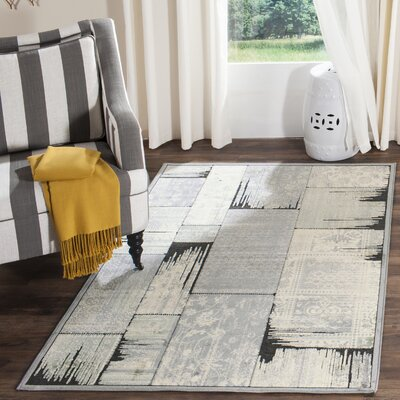 Saint-Michel Gray/Anthracite Area Rug Rug Size: Runner 22 x 72