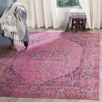 Manya Fuchsia Area Rug Rug Size: Rectangle 4 x 6