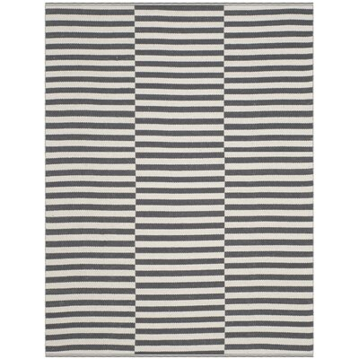 Orwell Hand-Woven Cotton Ivory/Gray Area Rug Rug Size: Rectangle 4 x 6