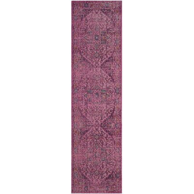 Manya Fuchsia Area Rug Rug Size: Rectangle 22 x 10