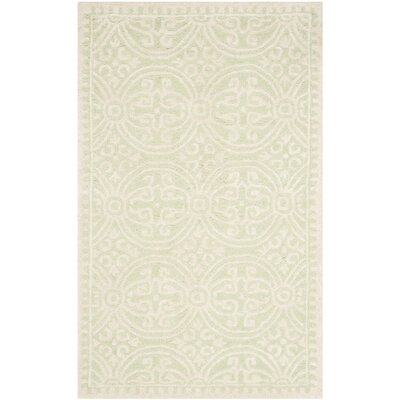 Diona Light Green/Ivory Area Rug Rug Size: Rectangle 26 x 4