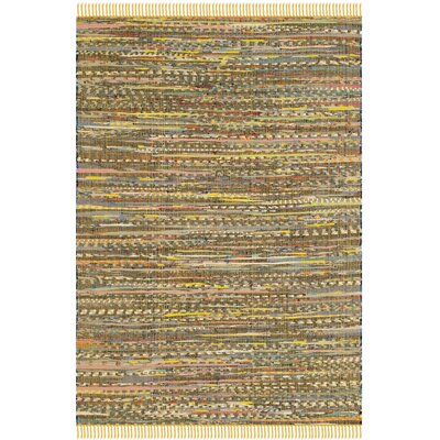 Havelock Contemporary Hand-Woven Cotton Yellow Area Rug Rug Size: Rectangle 4 x 6