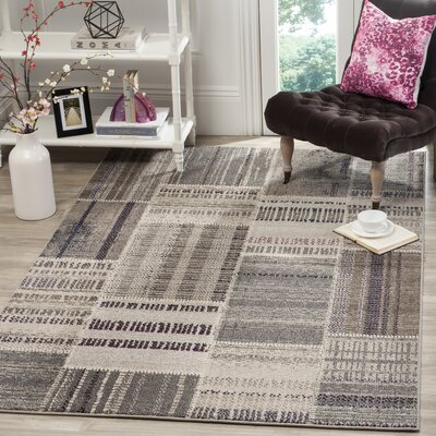 Tucker Madera Gray Area Rug Rug Size: Rectangle 67 x 92