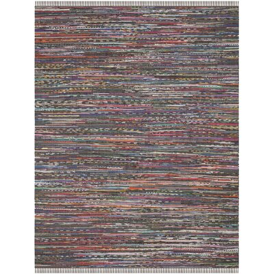 Hatteras Contemporary Hand-Woven Grey/Red/Green Area Rug Rug Size: Rectangle 8 x 10