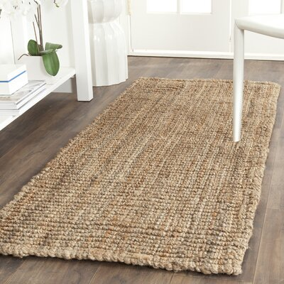 Gaines Hand-Woven Natural Area Rug Rug Size: Runner 26 x 8