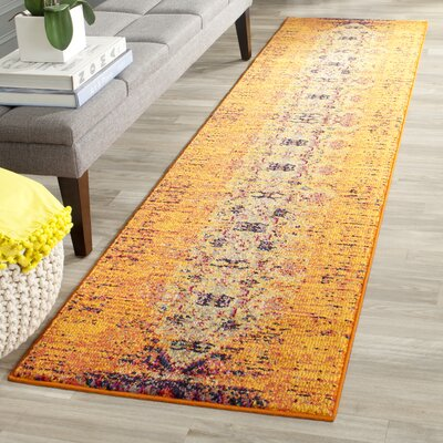 Hydra Orange Area Rug Rug Size: Runner 22 x 6